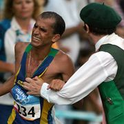 People, Sportswear, Endurance sports, Running, Cap, Sleeveless shirt, Long-distance running, Athlete, Sports, Muscle,