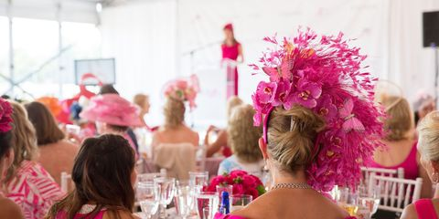 Hair, Magenta, Pink, Tablecloth, Function hall, Linens, Party, Hair coloring, Hair accessory, Hall,
