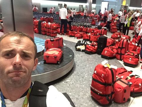 Red, Carmine, Baggage, Luggage and bags, Service, Coquelicot, Hand luggage, Selfie, Suitcase,