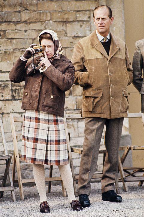 royal family wearing plaid