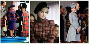 Royal family in plaid outfits