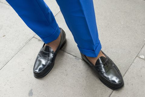 Footwear, Blue, Shoe, Human leg, Style, Fashion, Electric blue, Azure, Black, Street fashion,