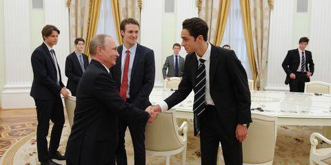 Vladimir Putin And Eton Students