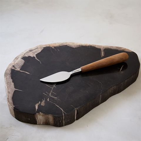 West Elm Petrified Wood Cheese Board
