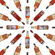 Brown, Orange, Red, Amber, Bottle, Alcohol, Alcoholic beverage, Tan, Maroon, Glass bottle,