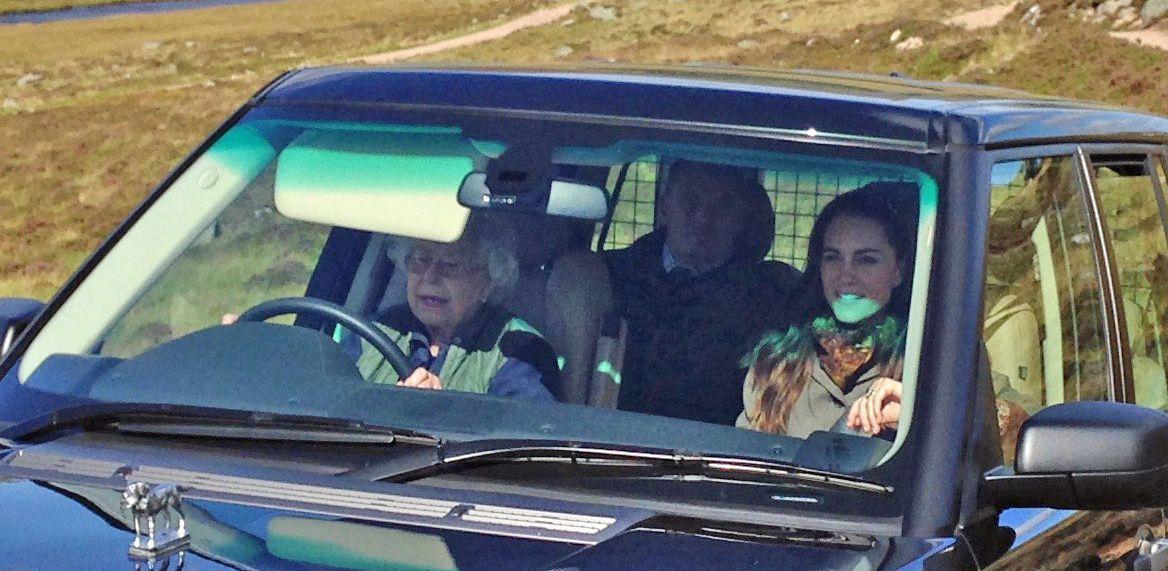 Queen Elizabeth Driving Balmoral