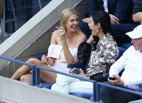 Ivanka Trump And Wendi Deng At The US Open