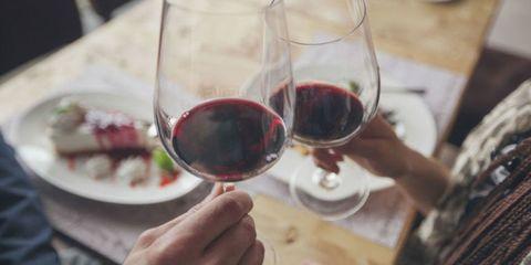 Stemware, Glass, Wine glass, Drink, Drinkware, Red wine, Dessert wine, Barware, Red, Alcoholic beverage,