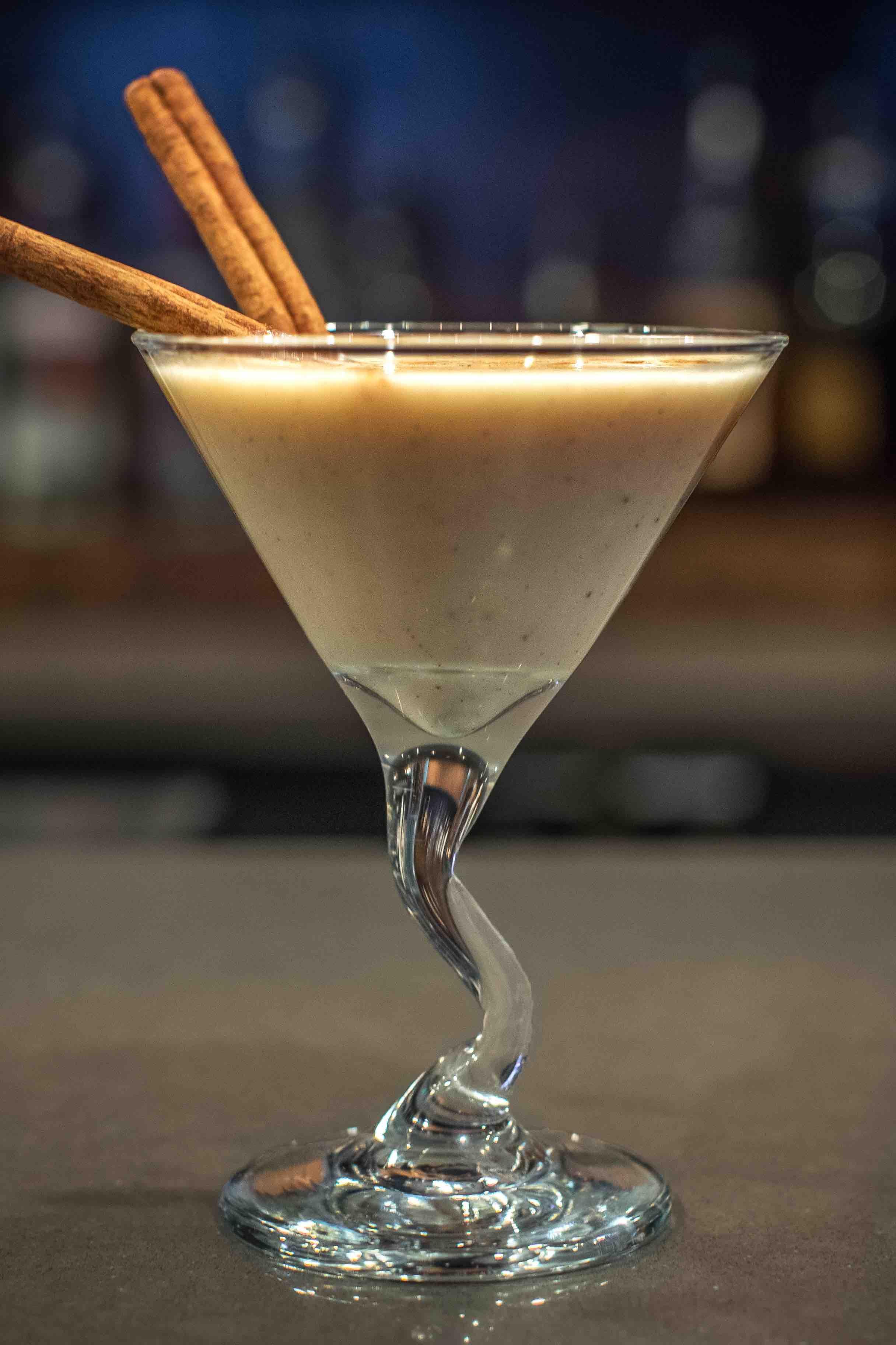 chai rum christmas martini recipe, coconut christmas martini recipe