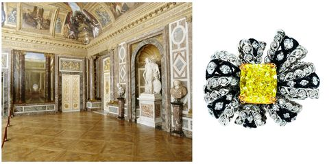 "<p>Baroque style and an abundance of arch curves properly celebrate the goddess of beauty.</p><p><em data-redactor-tag=""em""><strong data-redactor-tag=""strong"">Dior ""Salon de Venus Diamant Jaune"" diamond and yellow diamond ring</strong></em></p>"