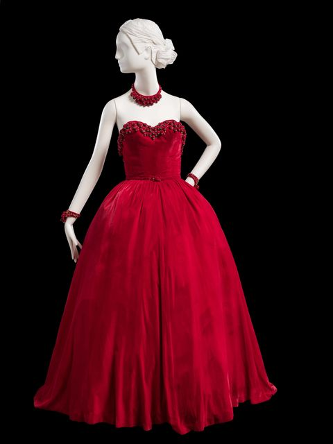 Clothing, Dress, Shoulder, Red, Formal wear, Style, Pink, One-piece garment, Gown, Day dress,