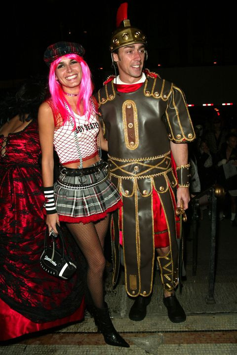 <p>2002, Angie Harmon as Gwen Stefani and Jason Sehorn as a gladiator</p>