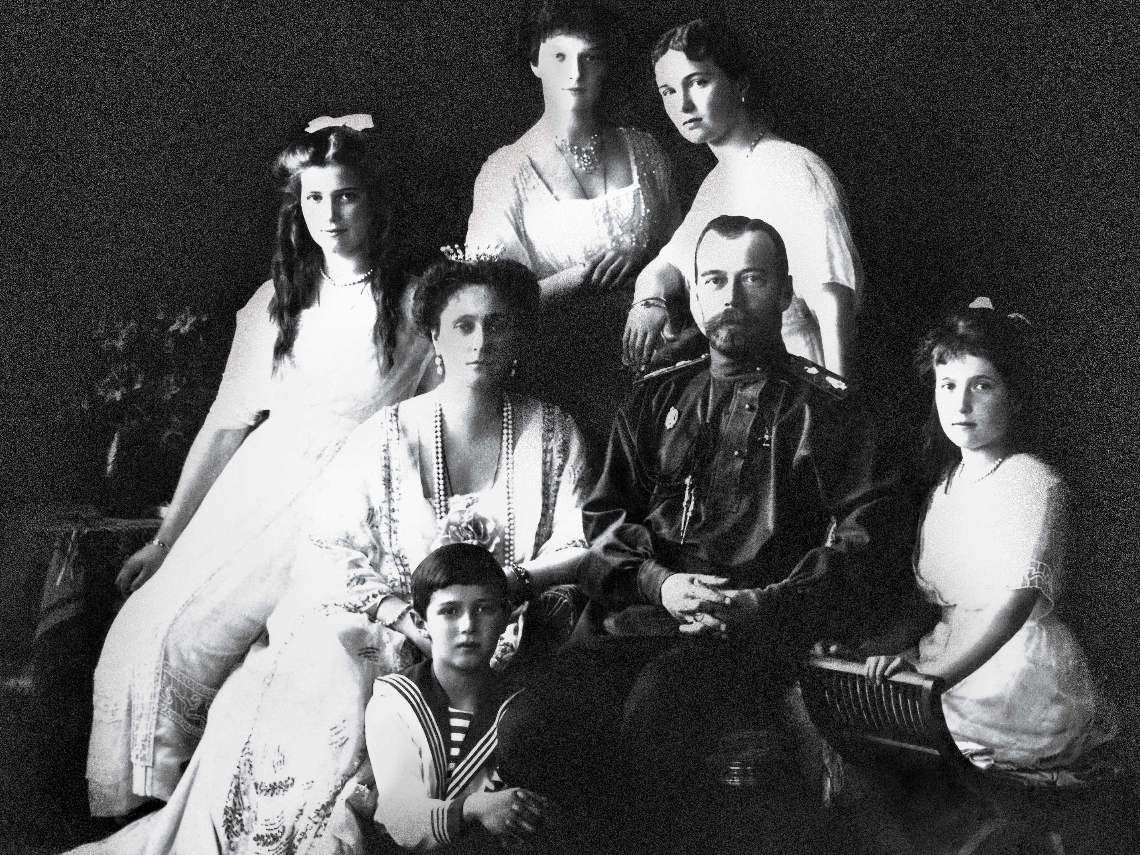 Photograph of Russian Imperial Family of Tsar Nicholas II Romanov Czar
