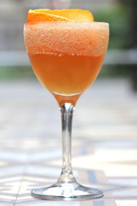 Glass, Liquid, Drink, Ingredient, Alcoholic beverage, Tableware, Amber, Orange, Classic cocktail, Cocktail,