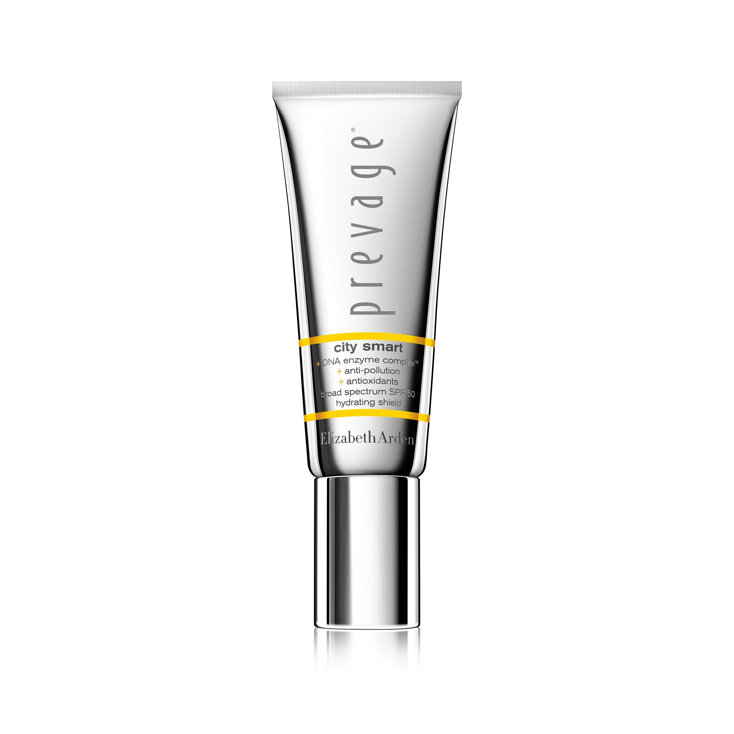 "<p><strong data-redactor-tag=""strong"" data-verified=""redactor"">Elizabeth Arden Prevage City Smart Broad Spectrum SPF 50 Hydrating Shield</strong><span class=""redactor-invisible-space"" data-verified=""redactor"" data-redactor-tag=""span"" data-redactor-class=""redactor-invisible-space""><strong data-redactor-tag=""strong"" data-verified=""redactor""></strong></span><br></p><p>I feel a little bit like Stefon, Bill Hader's club promoter character from <i data-redactor-tag=""i"">Saturday Night Live</i>'s Weekend Update, when talking about this product because…it has everything. Antioxidants, including a trio of tried-and-true ones beloved by dermatologists: green tea, idebenone, and ferulic acid. A mineral SPF of 50. A slippery texture that acts as a makeup primer. A slight tint to even out discoloration. An airless pump to keep the formula finger—and thus dirt—free. And a finish that leaves skin glossy and dewy (though, admittedly, this does not last for longer than an hour or so). It's not quite thick enough to double as a moisturizer, but it has eliminated the need for foundation on weekend days, when I tend to wear less makeup. It's not New York's hottest club, but it's at the edge of my shelf. </p><p>$68, <a href=""http://www.elizabetharden.com/prevage-city-smart-hydrating-shield-1001A0100498.html?cgid=city-smart"" target=""_blank"" data-tracking-id=""recirc-text-link"">elizabetharden.com</a> </p>"