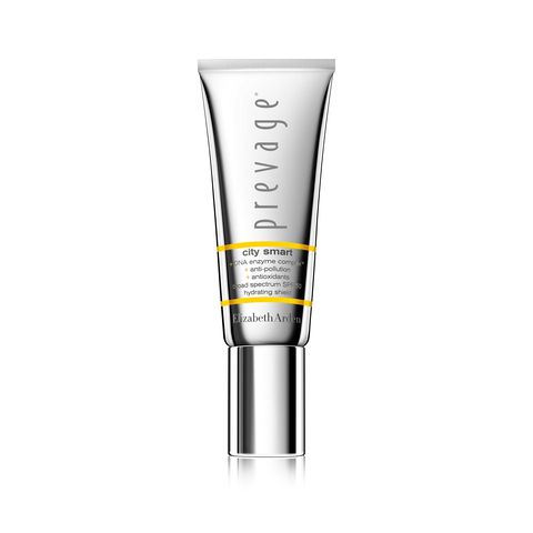 "<p><strong data-redactor-tag=""strong"" data-verified=""redactor"">Elizabeth Arden Prevage City Smart Broad Spectrum SPF 50 Hydrating Shield</strong><span class=""redactor-invisible-space"" data-verified=""redactor"" data-redactor-tag=""span"" data-redactor-class=""redactor-invisible-space""><strong data-redactor-tag=""strong"" data-verified=""redactor""></strong></span><br></p><p>I feel a little bit like Stefon, Bill Hader's club promoter character from&nbsp;<i data-redactor-tag=""i"">Saturday Night Live</i>'s Weekend Update, when talking about this product because…it has everything. Antioxidants, including a trio of tried-and-true ones beloved by dermatologists: green tea, idebenone, and ferulic acid. A mineral SPF of 50. A slippery texture that acts as a makeup primer. A slight tint to even out discoloration. An airless pump to keep the formula finger—and thus dirt—free. And a finish that leaves skin glossy and dewy (though, admittedly, this does not last for longer than an hour or so). It's not quite thick enough to double as a moisturizer, but it has eliminated the need for foundation on weekend days, when I tend to wear less makeup. It's not New York's hottest club, but it's at the edge of my shelf.&nbsp;</p><p>$68,&nbsp;<a href=""http://www.elizabetharden.com/prevage-city-smart-hydrating-shield-1001A0100498.html?cgid=city-smart"" target=""_blank"" data-tracking-id=""recirc-text-link"">elizabetharden.com</a> </p>"