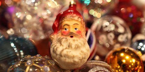 Event, Christmas decoration, Christmas ornament, Holiday, Christmas, Toy, Holiday ornament, Christmas eve, Facial hair, Fictional character,