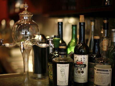 Glass bottle, Bottle, Alcohol, Alcoholic beverage, Glass, Drink, Barware, Distilled beverage, Liquid, Home accessories,
