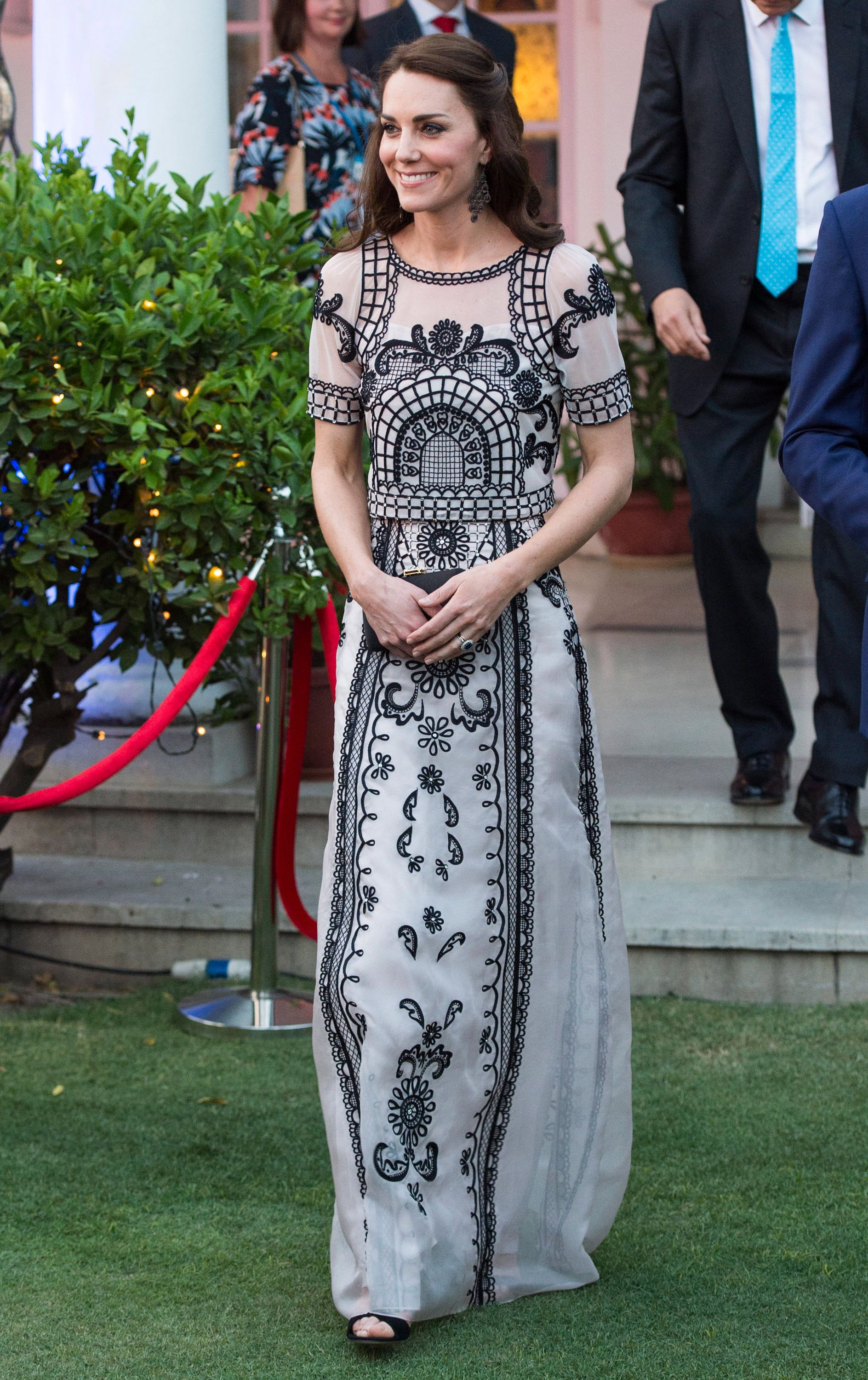 The Best Royal Looks Of Year Kate Embroidery Blouse In Blue Beatrice Clothing