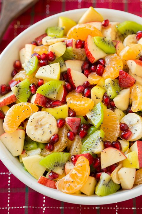 Winter Fruit Salad with Lemon Poppy Seed Dressing