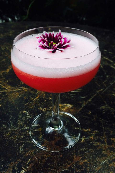 Drink, Alcoholic beverage, Clover club cocktail, Rose, Food, Pink lady, Non-alcoholic beverage, Corpse reviver, Distilled beverage, Dessert,