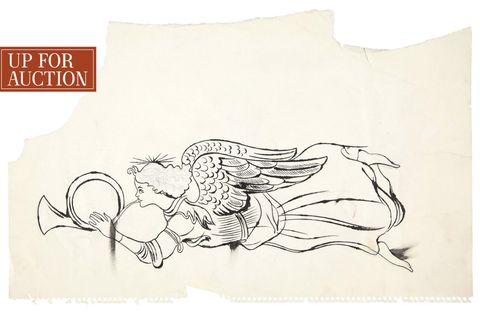 Art, Line art, Fictional character, Artwork, Illustration, Paper, Graphics, Drawing, Paper product, Mythology,