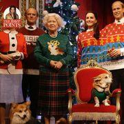 Human, Event, Dog breed, Vertebrate, Dog, Carnivore, Holiday, Christmas eve, Pattern, Christmas decoration,