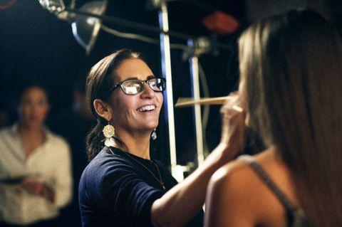 Eyewear, Glasses, Vision care, Shoulder, Happy, Sleeveless shirt, Jewellery, Flash photography, Laugh, Necklace,