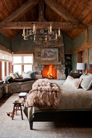 Cozy fireplaces in living rooms