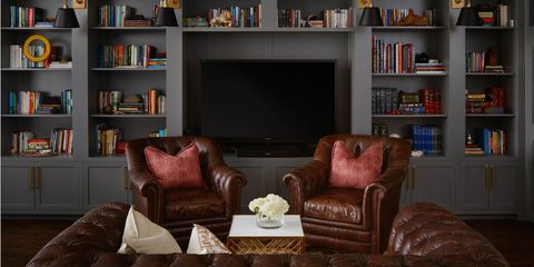 Room, Brown, Shelf, Interior design, Shelving, Living room, Wall, Furniture, Home, Bookcase,