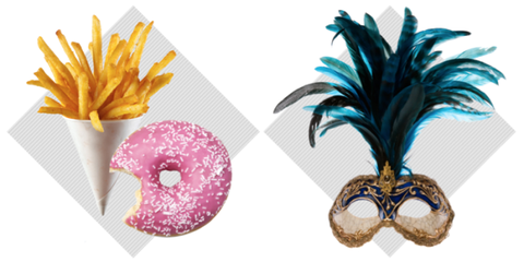 Doughnut, Cuisine, Violet, Recipe, Fried food, Snack, Dish, French fries, Side dish, Plate,