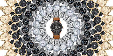 Circle, Watch, Analog watch, Clock, Silver,