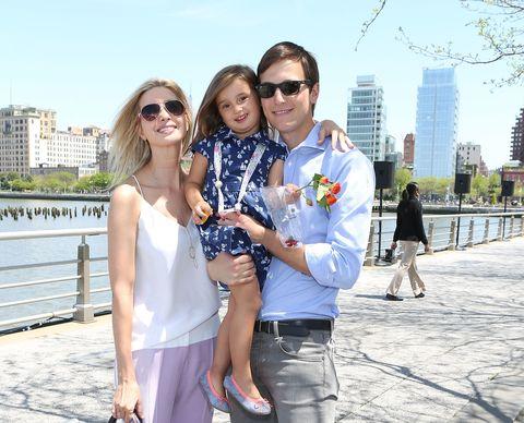 Ivanka Trump And Arabella Kushner And Jared Kushner