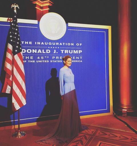 Flag, Flooring, Flag of the united states, Majorelle blue, Carpet, Electric blue, Cobalt blue, Stage, Flag Day (USA), Public speaking,