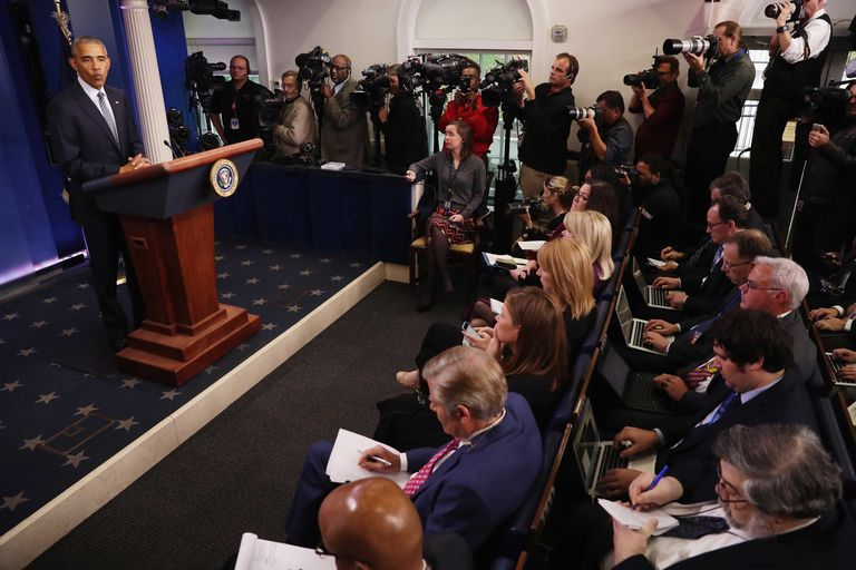 The Fascinating History of the White House Press Room