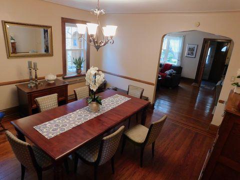 Room, Property, Dining room, Furniture, Interior design, Building, Floor, Table, Hardwood, Wood flooring,