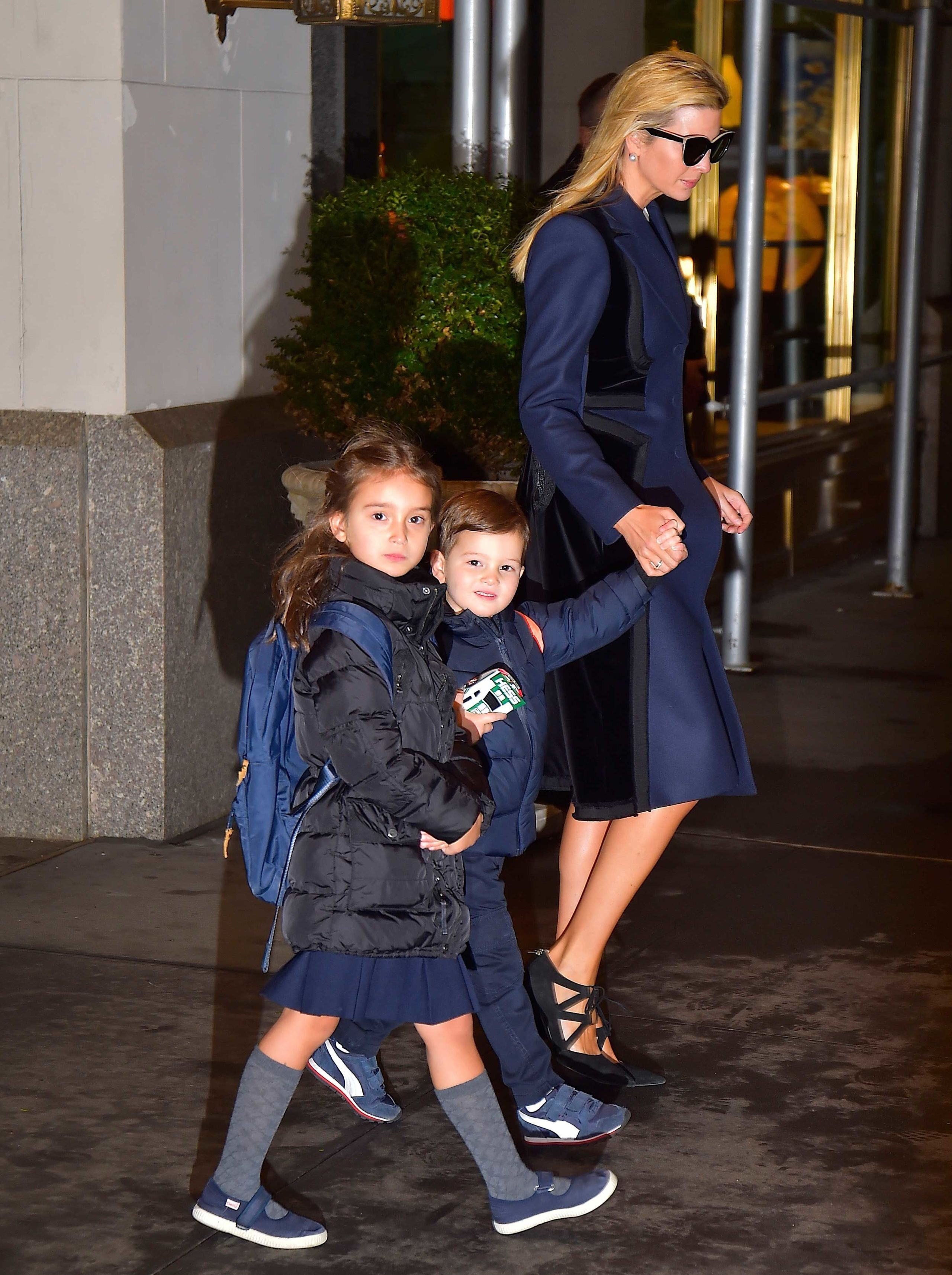 Ivanka Trump walks with her two oldest children, Arabella and Joseph, in  New York City last week.