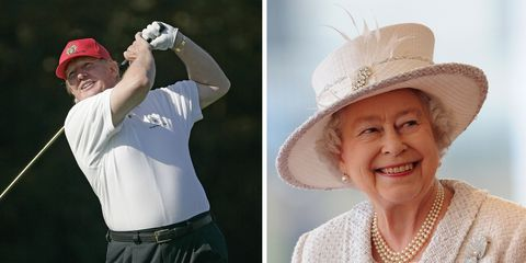 trump golfing with the queen