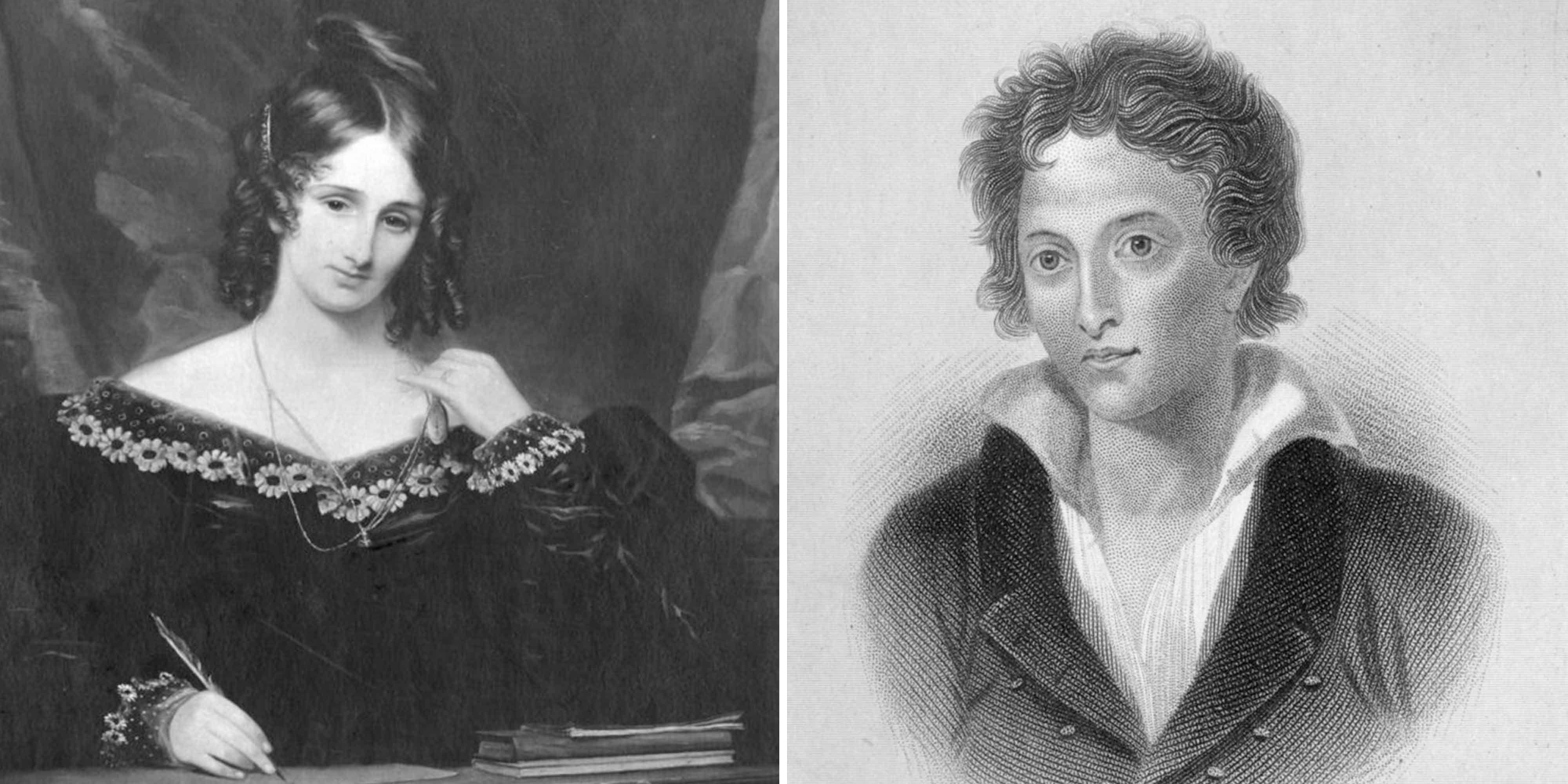 Mary Godwin Shelley and Percy Shelley