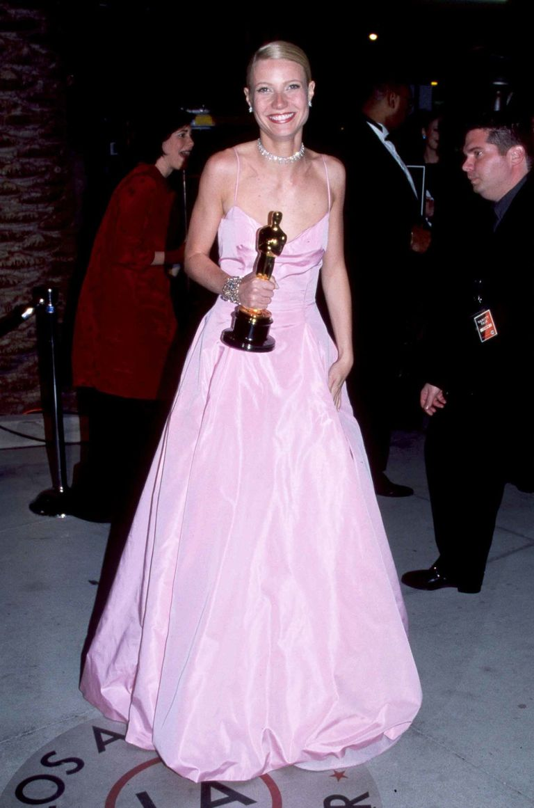 Gwyneth Paltrow in a pink Ralph Lauren gown.