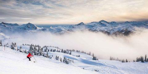 Winter, Winter sport, Slope, Mountain range, Snow, Mountain, Outdoor recreation, Atmospheric phenomenon, Ski Equipment, Ski pole,