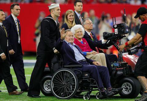 George And Barbara Bush Super Bowl