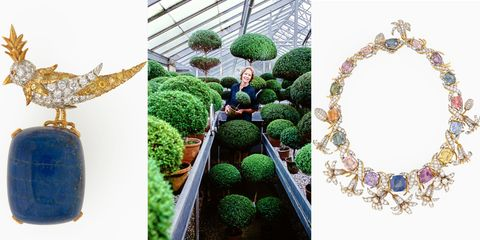 Green, Jewellery, Natural material, Garden, Body jewelry, Shrub, Gemstone, Creative arts, Craft, Produce,
