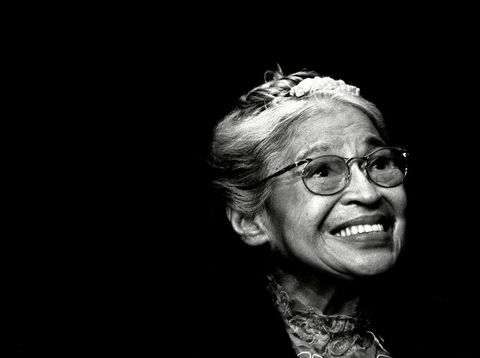Rosa Parks Rosa Parks smiles during a ceremony where she received the Congressional Medal of Freedom in Detroit.