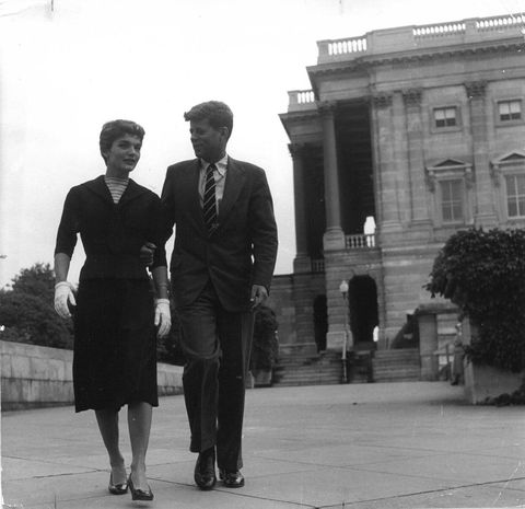 A rare photo of the young Kennedy couple.