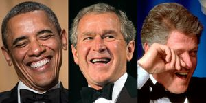 Presidents Barack Obama, George W. Bush, and Bill Clinton