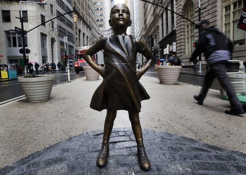 Wall Street Girl Statue