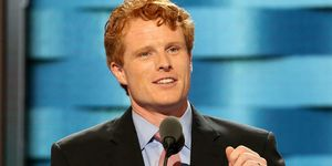 Rep. Joseph Kennedy III (D-Mass.) speaks on the first day of the Democratic National Convention at the Wells Fargo Center, July 25, 2016 in Philadelphia, Pennsylvania. An estimated 50,000 people are expected in Philadelphia, including hundreds of protesters and members of the media. The four-day Democratic National Convention kicked off July 25. (Photo by Paul Morigi/WireImage)
