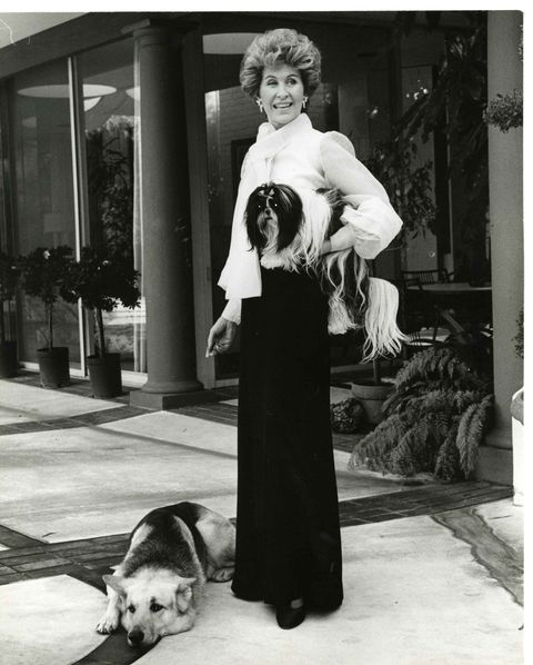 Betsy Bloomingdale and dog