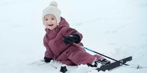 Winter, Cheek, Snow, Baby & toddler clothing, Ice cap, Playing in the snow, Headgear, Slope, Freezing, Geological phenomenon,
